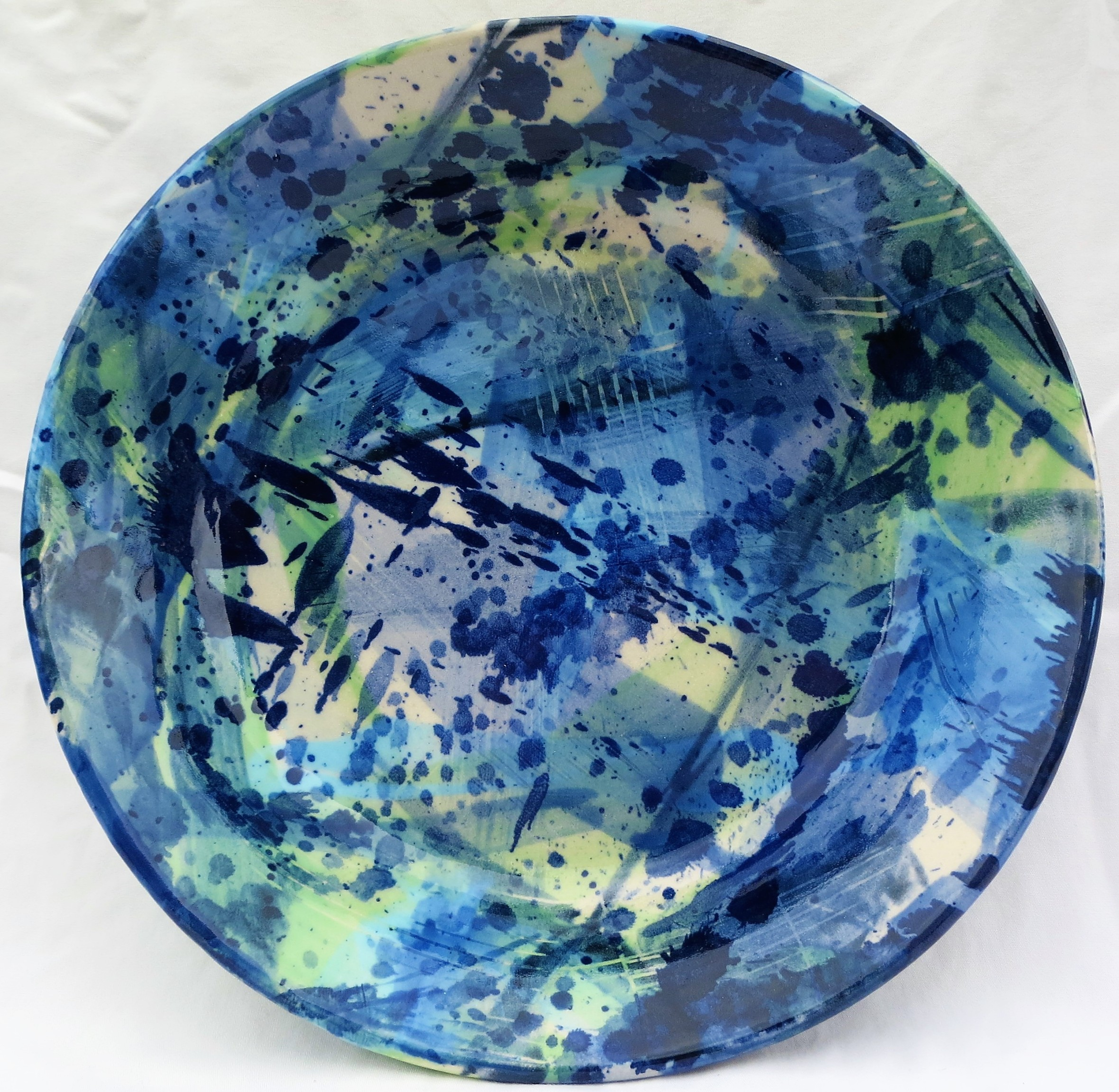 Splash Blue Green Plate (2)