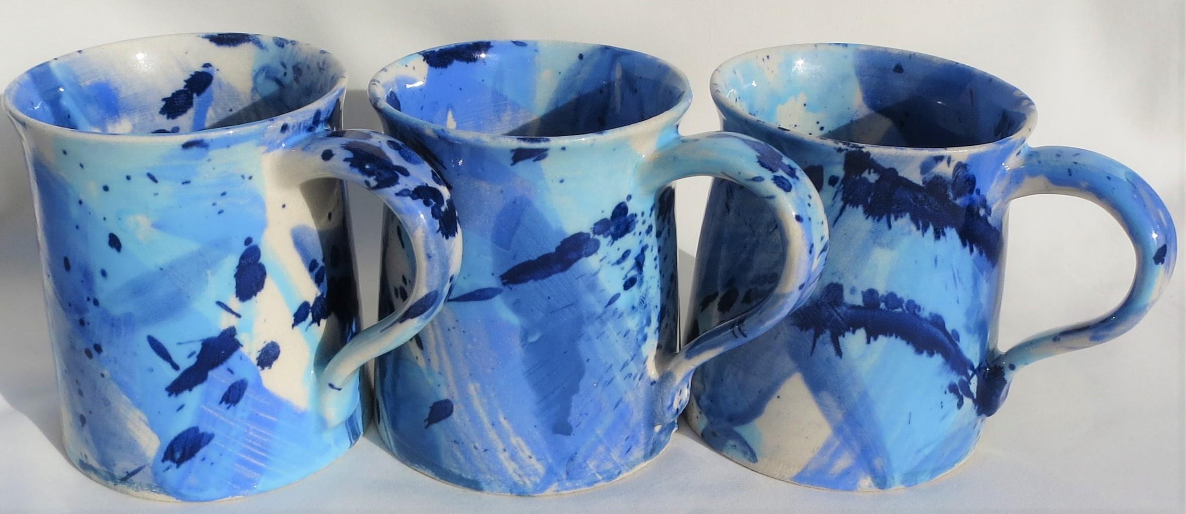 Splash Blue Mugs x 3 (2)